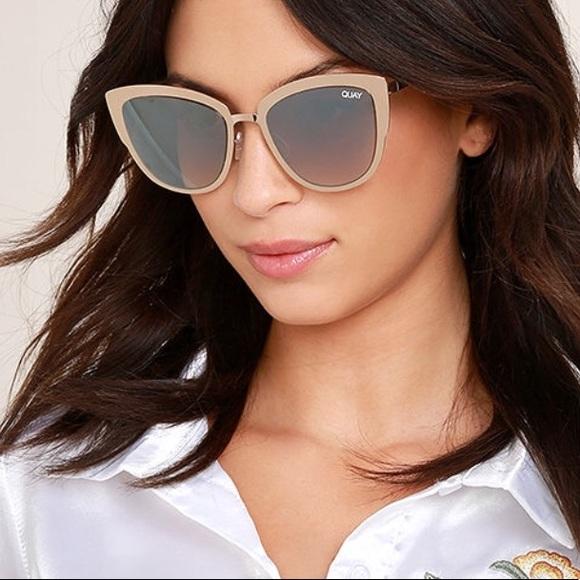 ad2e1f7726d71 Quay Super Girl Gold Mirror Sunglasses